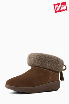 FitFlop™ Chestnut Mukluk Shorty II Boot With Tassels