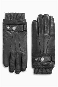 Leather Cuffed Gloves