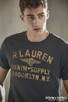 Ralph Lauren Denim & Supply Washed Logo T-Shirt