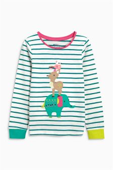Appliqué Animal T-Shirt (3mths-6yrs)