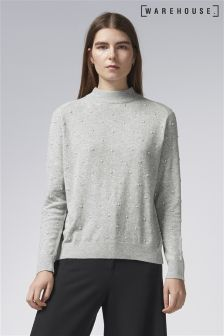 Warehouse Grey Pearl Jumper