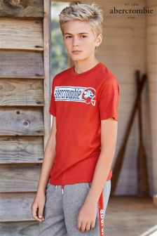 Abercrombie & Fitch Red Wolf Print Tee