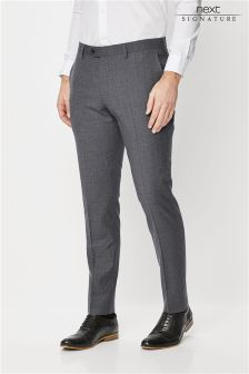 Signature Textured Skinny Fit Suit: Trousers