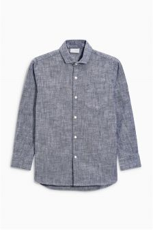 Long Sleeve Chambray Shirt (3-16yrs)