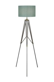 Pewter Tripod Floor Lamp