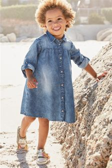 Authentic Wash Shirt Dress (3mths-6yrs)