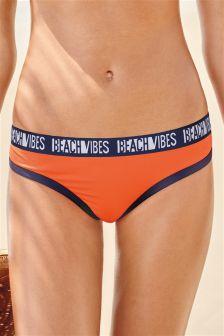 Slogan Bikini Briefs