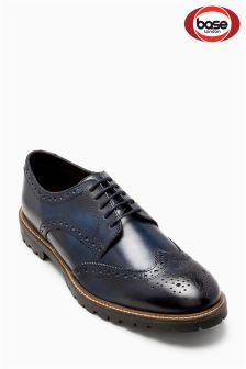 Base London Blue Trench Washed Brogue