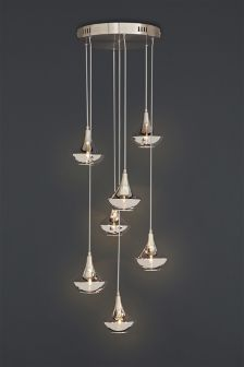 Sloane 7 Light Metallic Gold Cluster Pendant