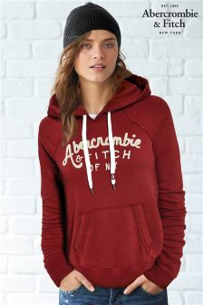 Abercrombie & Fitch Burgundy New York Hoody