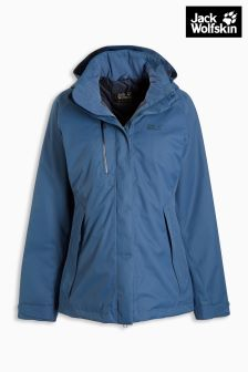 Jack Wolfskin Navy Northern Edge Insulated Waterproof Jacket