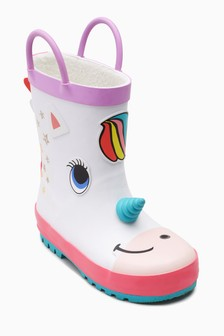 Unicorn Wellies (Younger Girls)