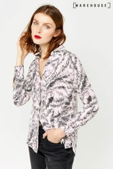 Warehouse Cream Fern Print Shirt