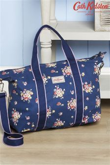 Cath Kidston Navy/Pink Mallory Bunch Foldaway Overnight Bag