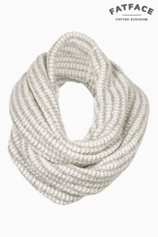 Fat Face Grey Amy Textured Snood