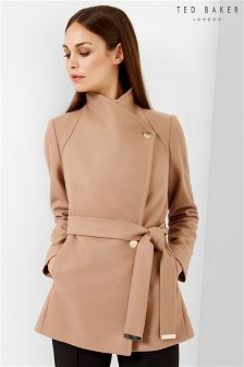 Ted Baker Short Wrap Car Popper Coat