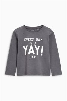 Yay Day Printed T-Shirt (3mths-6yrs)