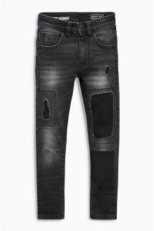 Rip & Repair Patch Super Skinny Jeans (3-16yrs)