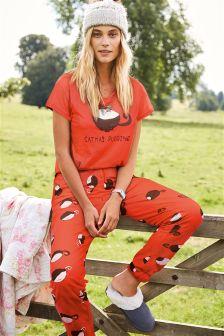 Catmus Slogan Pyjamas