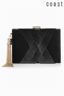Coast Black Velvet Gigi Box Bag