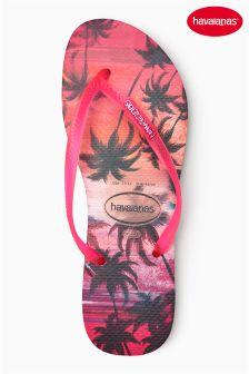 Havaianas® Pearl Pink Paisage Slim Flip Flop