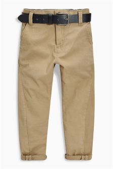 Belted Skinny Chino Trousers (3-16yrs)