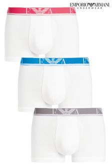 Armani White Boxers Three Pack
