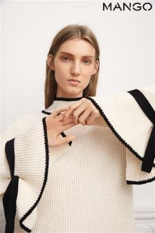 Mango Cream Flared Sleeve Knit