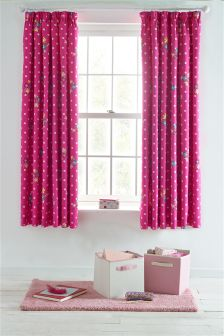 Ruby Floral Curtains