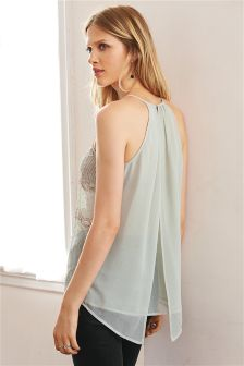 Embellished V Back Cami