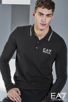 Emporio Armani EA7 Black Core ID Long Sleeve Polo