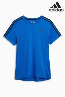 adidas Essential Black 3 Stripe T-Shirt
