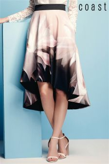 Coast Multi Vina Printed Full Skirt