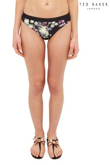 Ted Baker Black Kensington Floral Bikini Brief