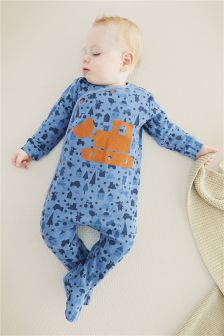 Car Print Sleepsuits Three Pack (0mths-2yrs)