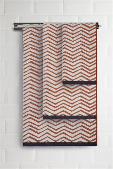 Ginger Chevron Towel