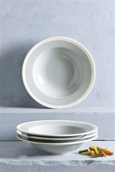 Set Of 4 Chiltern Pasta Bowls