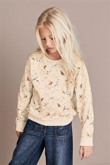 Batwing All Over Print Bird Crew (3-16yrs)