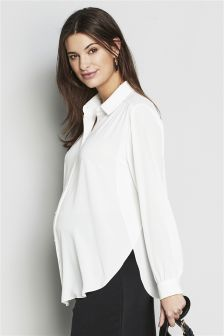 Maternity Drape Shirt