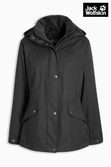 Jack Wolfskin Black Park Avenue Insulated Waterproof Jacket