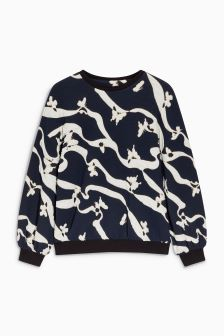 Butterfly Jacquard Sweat