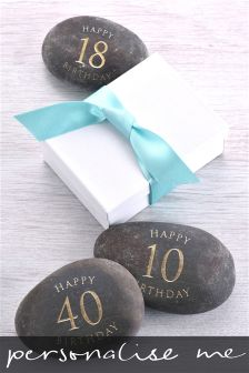 Happy Birthday Personalised River Pebble By Letterfest