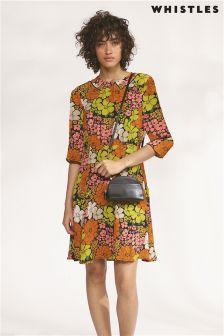 Whistles Celina Tangerine Dream Dress