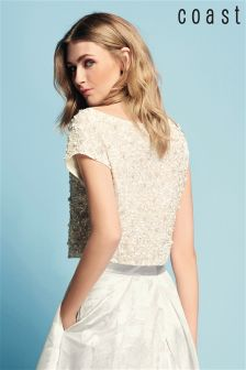Coast Ivory Felicity Embroidered Top
