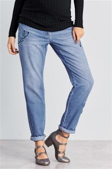 Maternity Dragonfly Detail Jeans