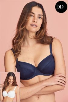 Georgie DD+ Non Pad Full Cup Bras Two Pack