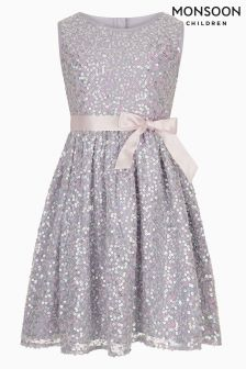 Monsoon Purple Ottalia Sparkle Dress