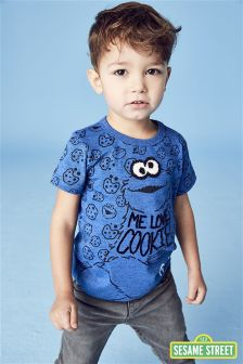 Short Sleeve Cookie Monster T-Shirt (3mths-6yrs)