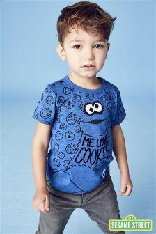 Short Sleeve Cookie Monster T-Shirt (3mths-6yrs)