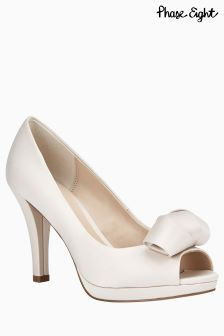 Phase Eight Abi Satin Peep Toe Shoe